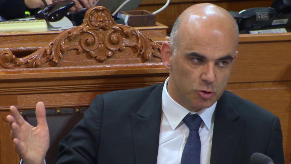 Alain Berset zur Erhöhung der Mehrwertsteuer