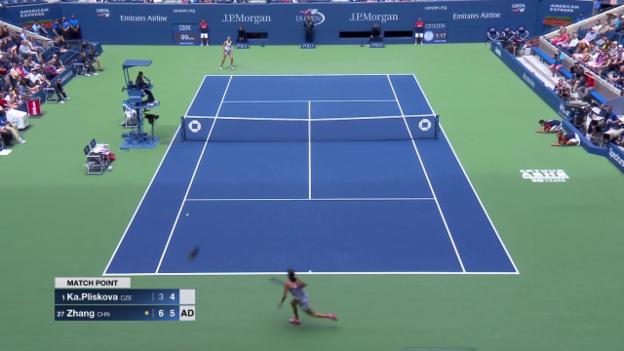 Video «Der abgwehrte Matchball von Pliskova» abspielen