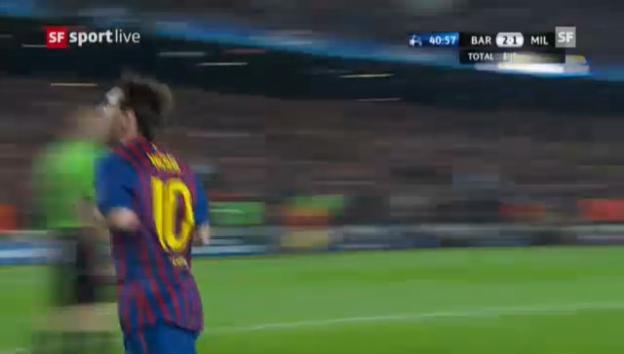 Video «CL-Viertelfinal: Highlights Barcelona - Milan («sportlive»» abspielen