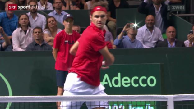 Video «Tennis: Davis Cup, Federer - Bolelli» abspielen