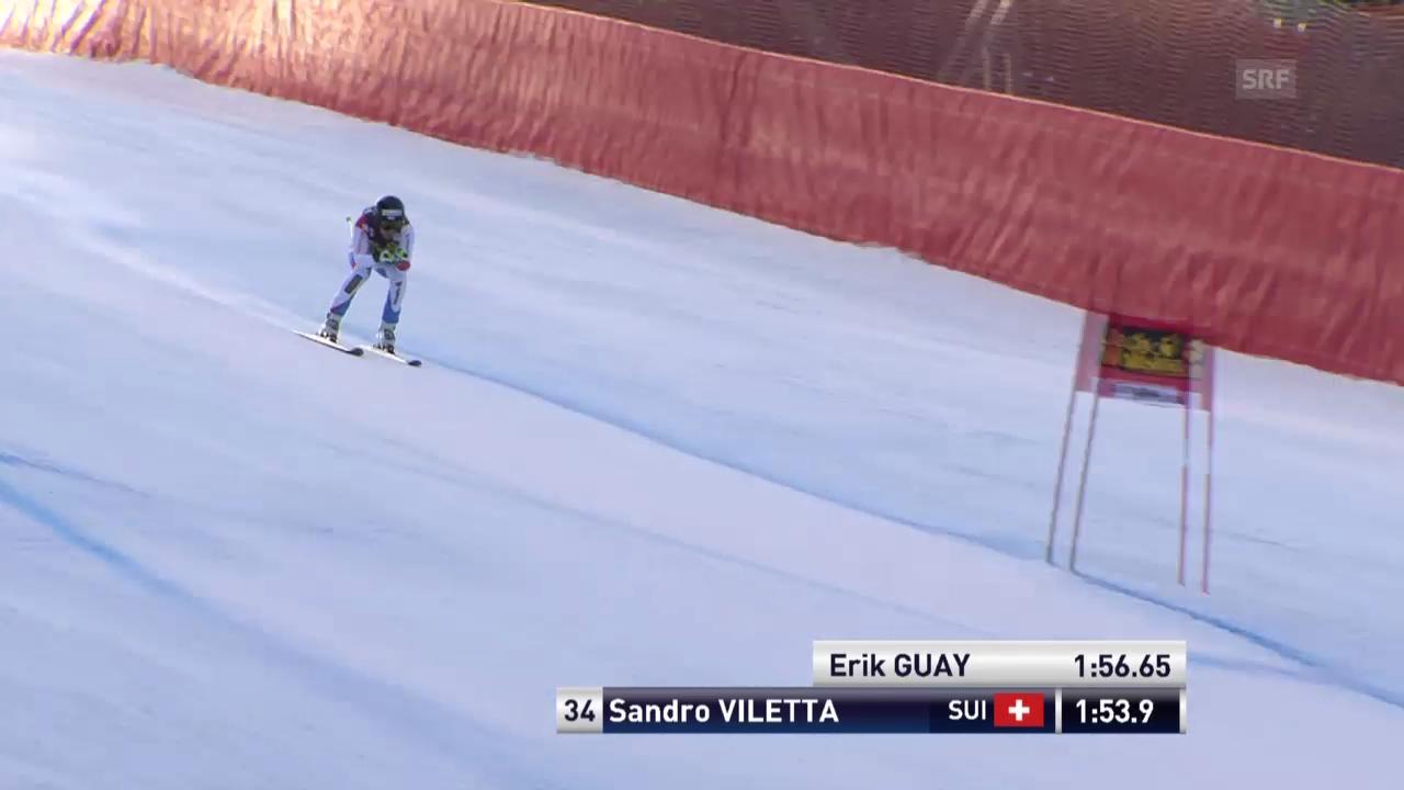 Ski Alpin: Abfahrt Männer in Gröden, Fahrt von Viletta («sportlive», 21.12.2013)