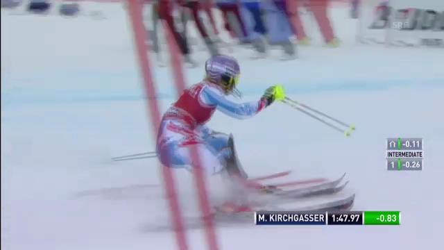 Ski, Superkombination Méribel, Slalom von Michaela Kirchgasser