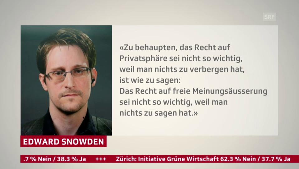 Edward Snowden und der Schweizer Abstimmungskampf