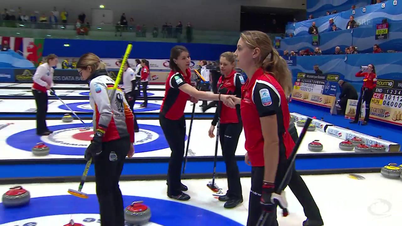Schweizer Curling-Teams an der Heim-EM im Hoch