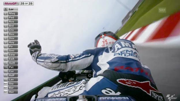 Video «MotoGP: Start und Zieleinfahrt beim GP San Marino («sportlive»)» abspielen