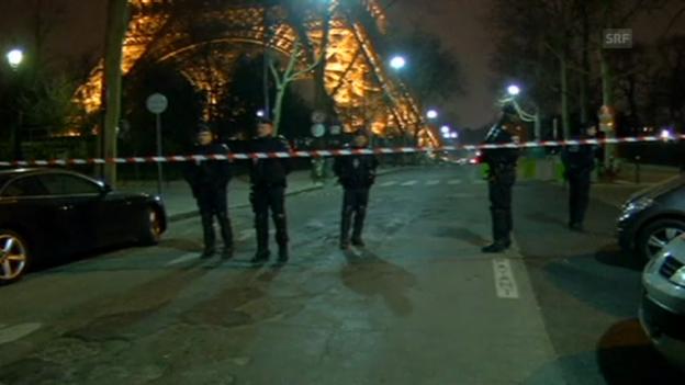Video «Eiffelturm wird evakuiert (unkommentiert).» abspielen