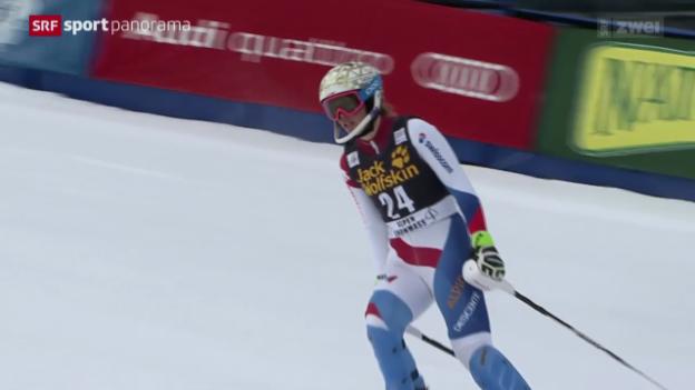 Video «Ski alpin: Slalom Frauen, 1. Lauf in Aspen» abspielen