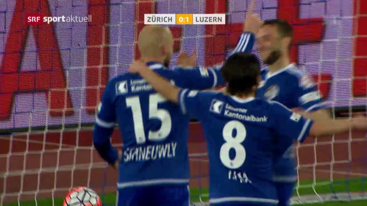 Luzern beendet Auswärtsmisere beim FCZ