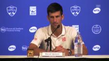 Video «Tennis: ATP Cincinnati, Djokovic vor Duell mit Wawrinka» abspielen
