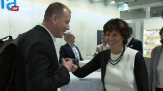 Video «Bundesrätin Doris Leuthard tourt für ein «Nein»» abspielen