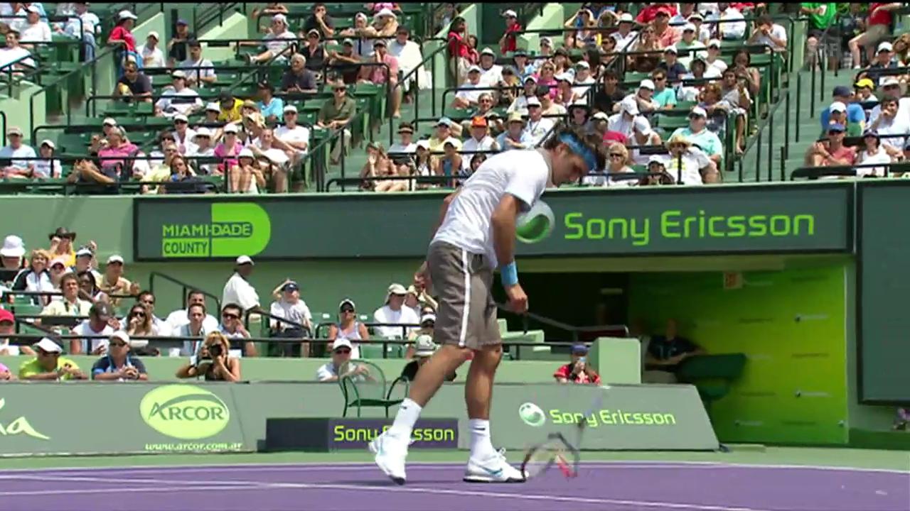 Als Federer in Miami die Nerven verlor