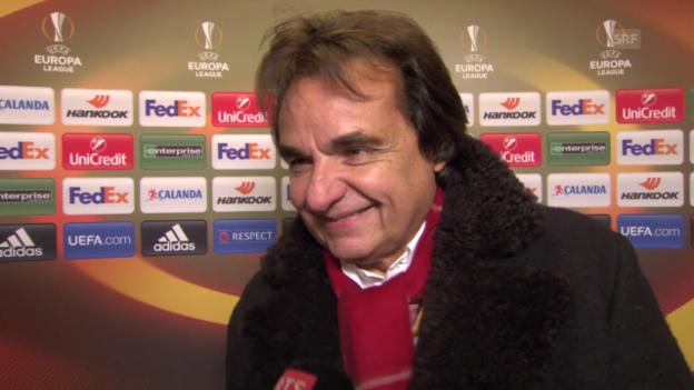 Video «Fussball: Europa League, 6. Spieltag, Sion - Liverpool, Interview mit Christian Constantin» abspielen