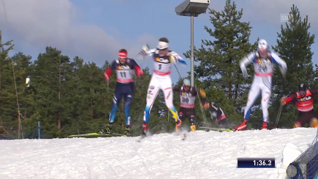 Langlauf: Sprint in Lahti, Viertelfinal mit Jöri Kindschi («sportlive», 1.3.14)