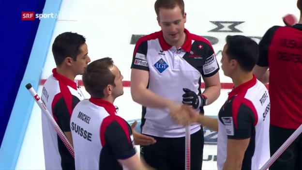 Video «Schweizer Curler starten erfolgreich in die Heim-WM» abspielen