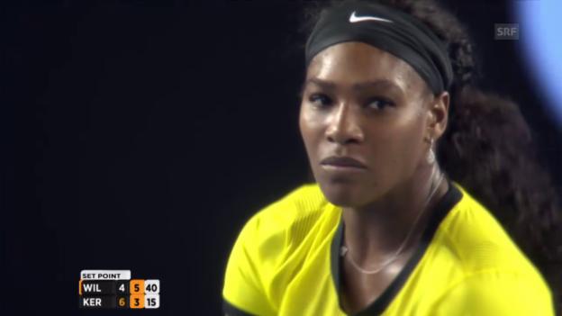 Video «Williams sichert sich den 2. Satz» abspielen
