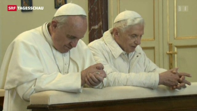 Papst Franziskus trifft Alt-Papst Ratzinger