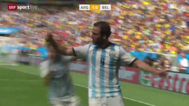 Video «FIFA WM 2014: Spielbericht Argentinien - Belgien» abspielen