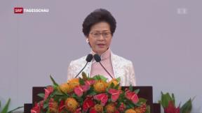 Video «Neue Regierungschefin für Honkkong » abspielen