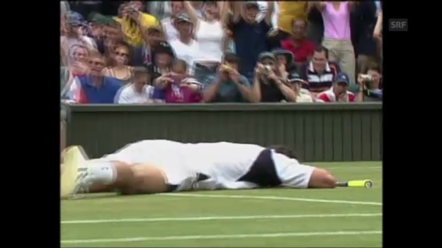 Video «Tennis: Goran Ivanisevic siegt 2001 in Wimbledon (unkommentiert)» abspielen