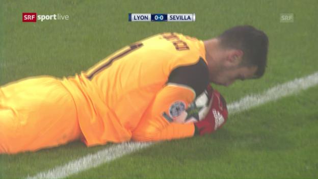 Video «Sevilla reicht in Lyon ein 0:0 für den Achtelfinal-Einzug» abspielen