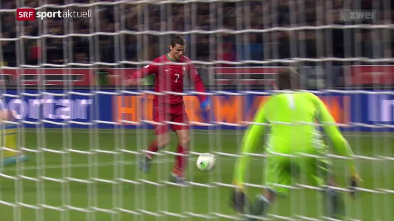 Fussball: WM-Quali, Schweden - Portugal