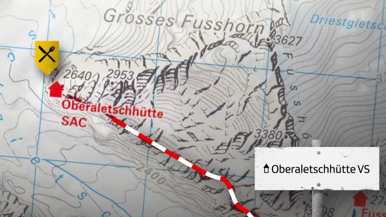 Route 1: Oberaletschhütte VS