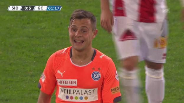 Video «Fussball: Super League, Sion - GC: Spielstudie Amir Abrashi» abspielen