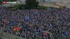 Video «Pro-Europa-Demonstration in Athen» abspielen