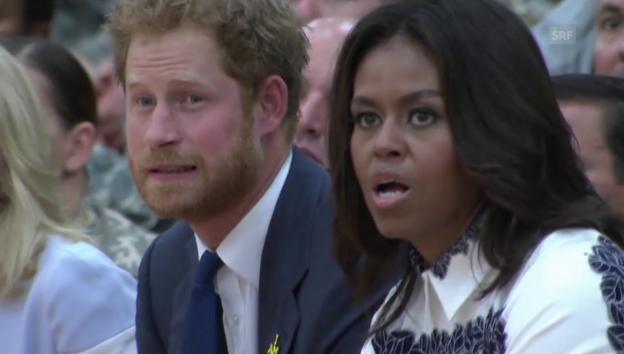 Video «Prinz Harry und Michelle Obama bei den «Invictus Games» (unkomm.)» abspielen