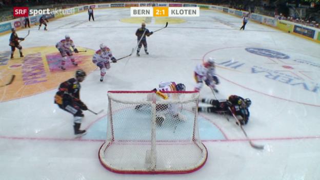 Video «Eishockey: Bern - Kloten» abspielen