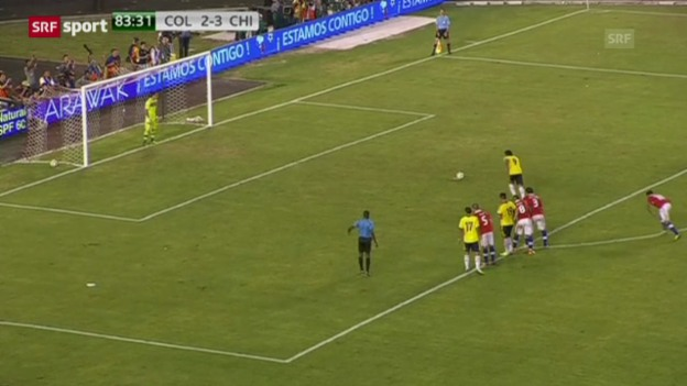 Video «Fussball: WM-Quali: Kolumbien - Chile» abspielen