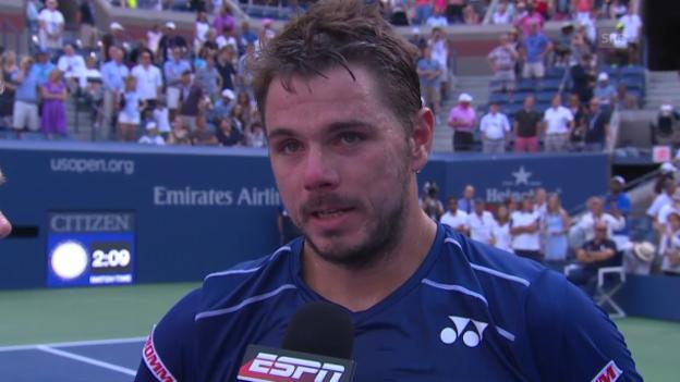 Video «Tennis: US Open, Platzinterview mit Wawrinka» abspielen