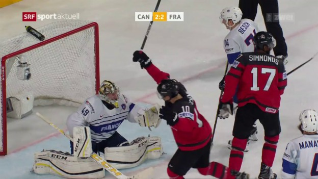 Video «Kanada gegen Co-Gastgeber Frankreich mit viel Mühe» abspielen