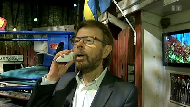 Björn Ulvaeus zeigt das Abba-Museum