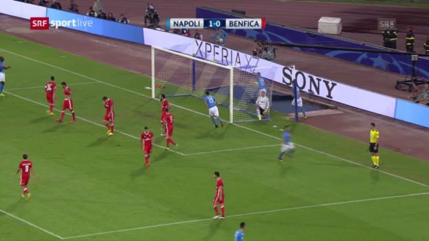 Video «Napoli bekundet mit Benfica keine Mühe» abspielen