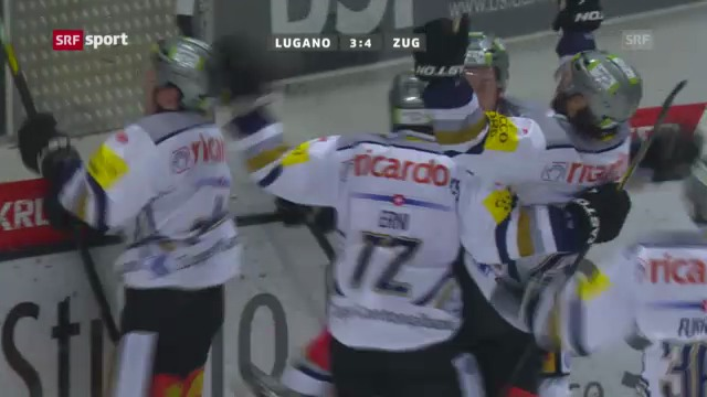 Eishockey: Lugano-Zug