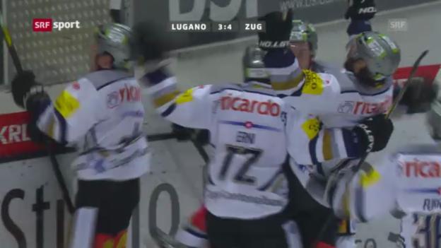 Video «Eishockey: Lugano-Zug» abspielen