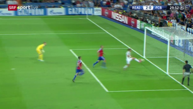 Video «Fussball: Champions League, Gruppenphase, Real Madrid - FC Basel, das 2:0 und 3:0» abspielen