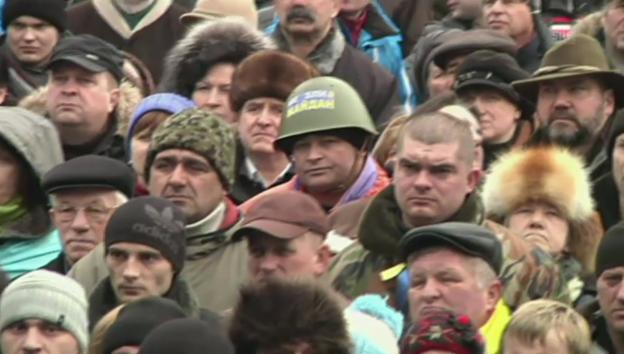 Video «Erneute Massenproteste in der Ukraine» abspielen