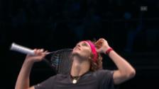 Link öffnet eine Lightbox. Video Die Livehighlights bei Federer – Zverev abspielen