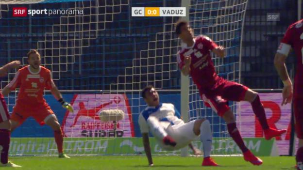 Video «Fussball: Super League, GC - Vaduz, Out Grippo» abspielen