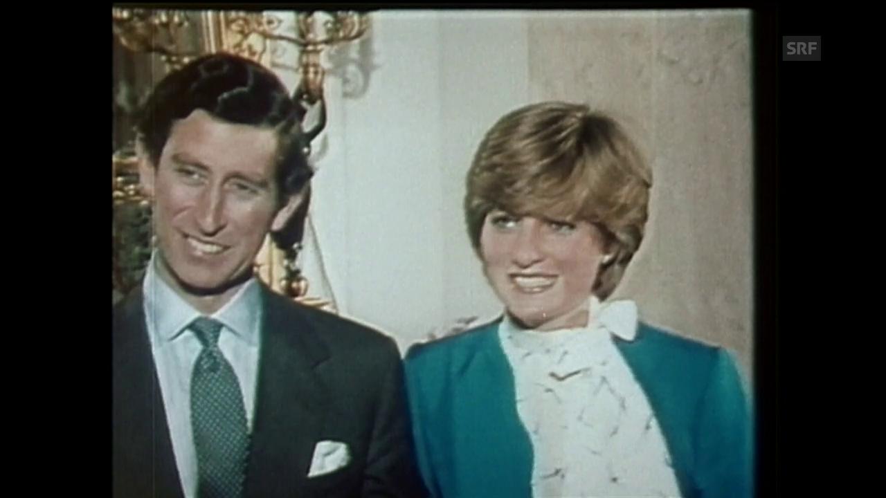 Diana und Charles geben ihre Verlobung bekannt (Agenturen, 1981)