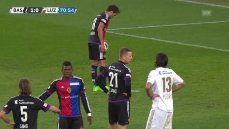 Video «Delgado erzielt das 2:0 per Penalty für Basel gegen Luzern» abspielen
