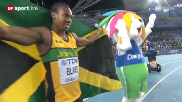 Video «Blakes Weltmeister-Lauf 2011 in Daegu» abspielen