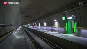 Video «Testfahrten im Gotthard-Basistunnel» abspielen