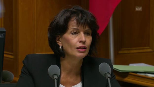 Video «Doris Leuthard hält die Debatte heute für zu früh» abspielen