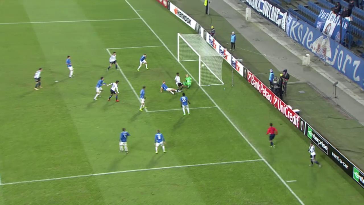 Fussball: Europa League 2015/16, Posen – Basel, 1:0 durch Boetius