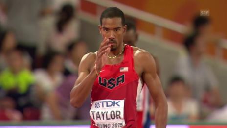 Video «LA: Dreisprung Männer, Taylors 18-m-Sprung» abspielen