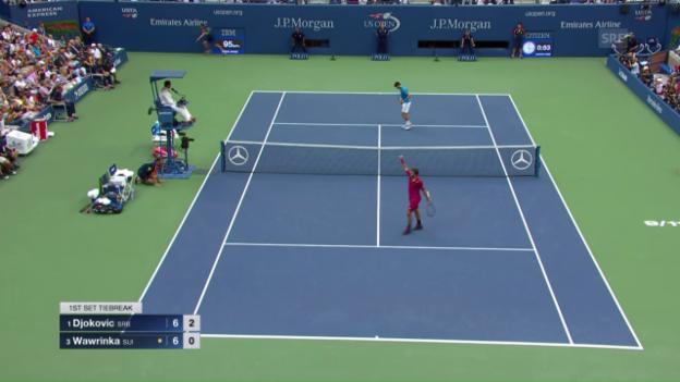 Video «Wawrinka - Djokovic: Zusammenfassung des Endspiels» abspielen