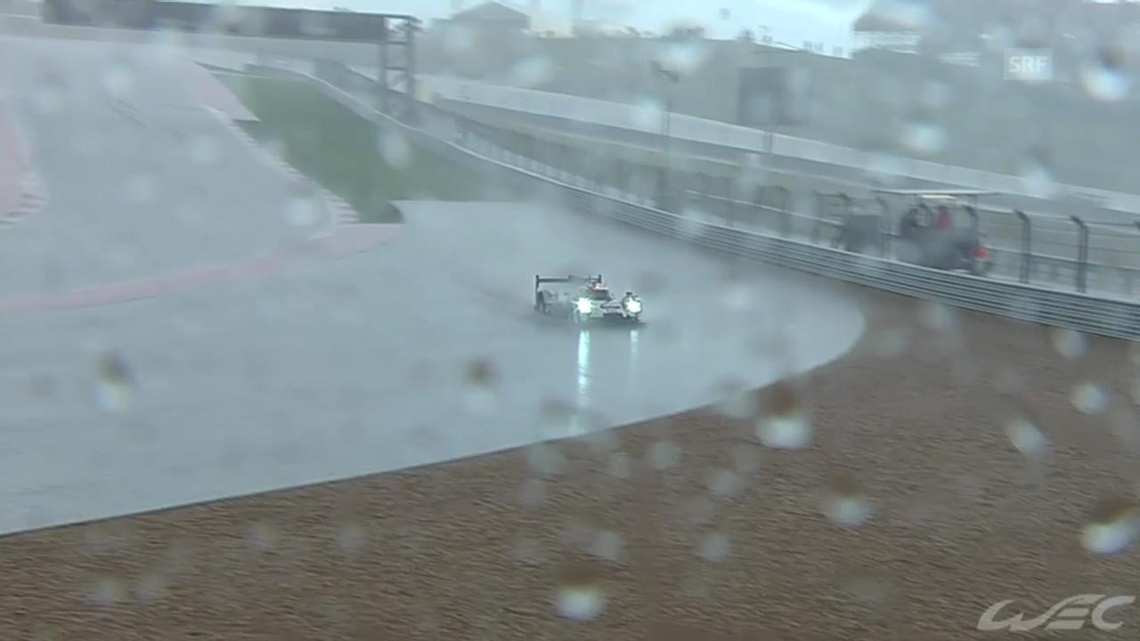 Motorsport: Langstreckenrennen in Austin, Regen-Impressionen